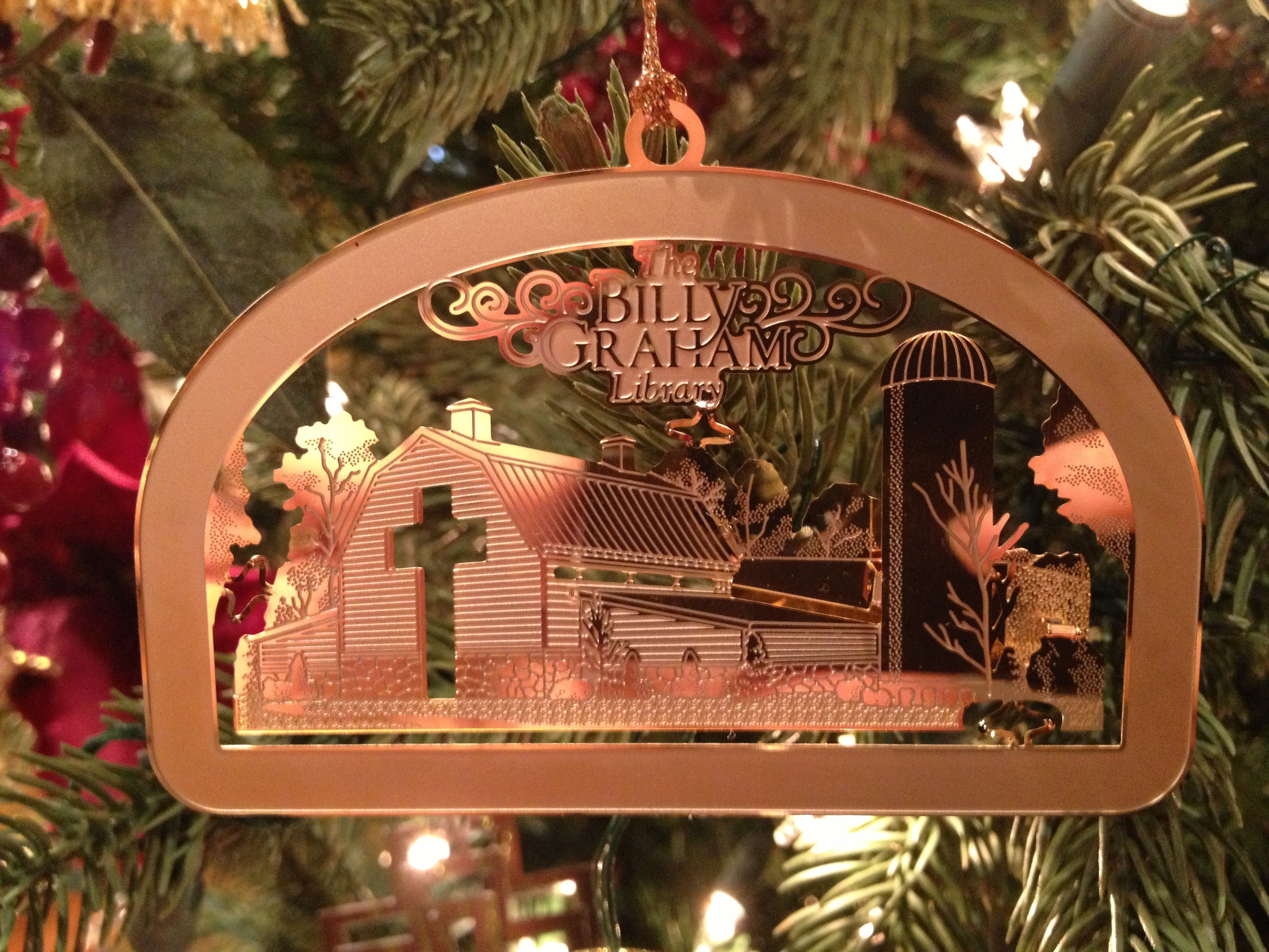 the billy graham library barn christmas ornament