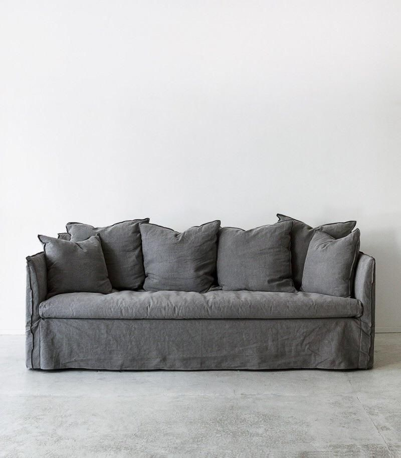 Tutorial For A Linen Slipcovered Couch Slip Covers Couch Couch