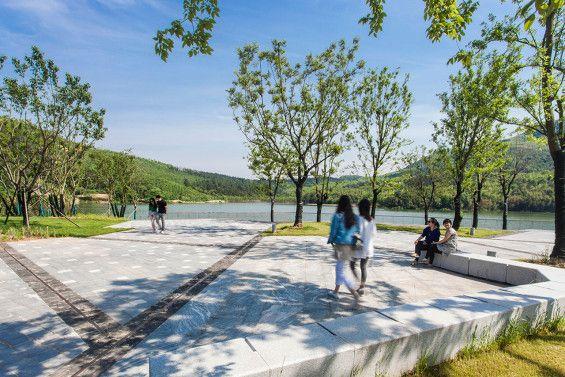 Nanjing Niushoushan Cultural Park Paving Details And Textures