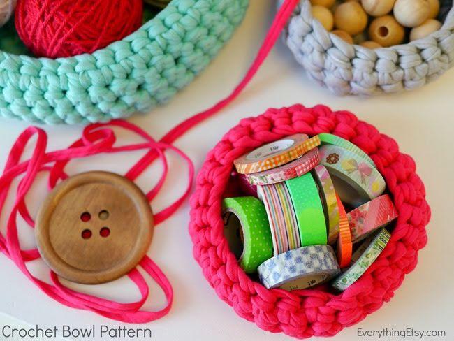 Free Crochet Bowl Pattern On Everythingetsy Crochet