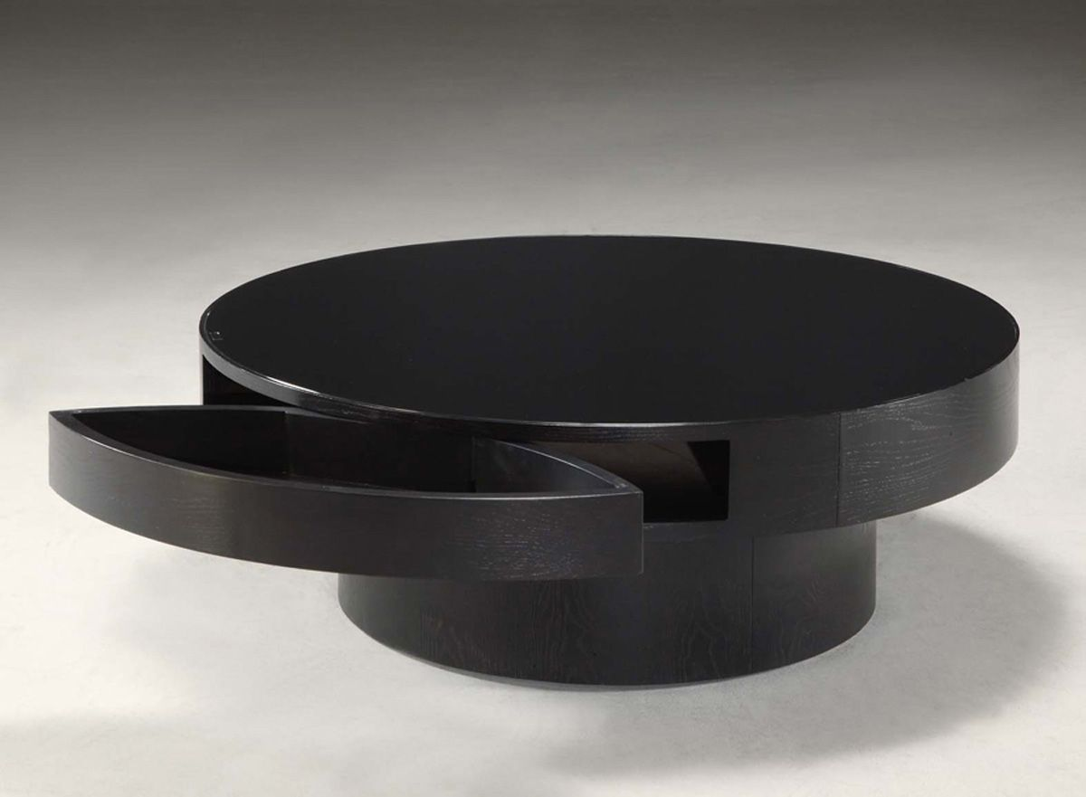 Black round coffee table with storage coffee tables have been