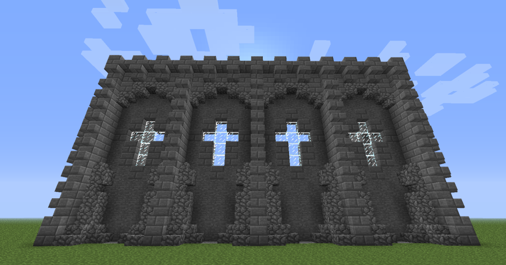Castle Wall Decoration Design Free Minecraft PC XBox Pocket Edition Mobile Seeds And