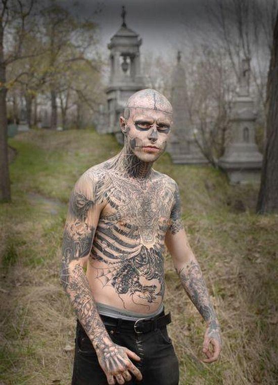 Veja 23 Fotos Do Zombie Boy Rick Genest Zombie Tattoos Rick Genest Zombie Pics