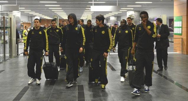 The Chelsea squad flies to America for our double-header against Manchester City on Monday afternoon. The first stop is St Louis, and 23 players are on the plane.  Frank Lampard will lead the group in the absence of injured John Terry, while Ryan Bertrand also misses out. Two youngsters from the Academy, defender Andreas Christensen, an unused substitute against Everton yesterday, and Ruben Loftus-Cheek, a midfielder, join the travelling party.