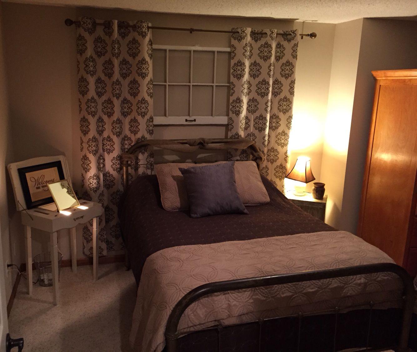 No window? No problem! Basement bedroom. Basement