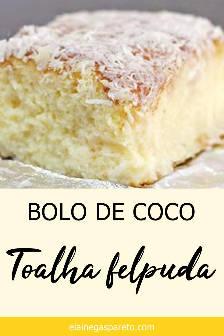 Bolo de coco gelado, o delicioso bolo Toalha Felpuda is part of Bread cake - Receita caseira muito fácil e deliciosa de Bolo de coco gelado, o famoso bolo Toalha Felpuda!