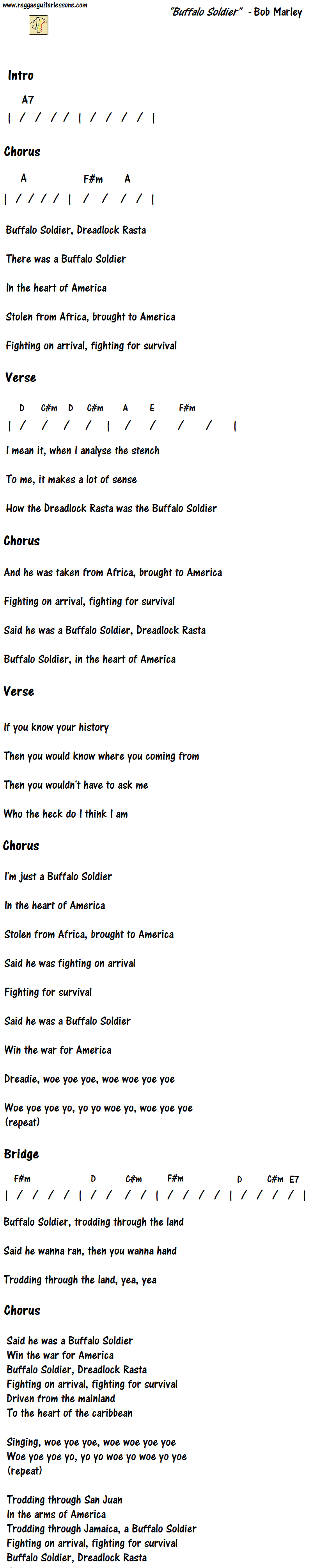 Buffalo soldier by bob marley lyrics