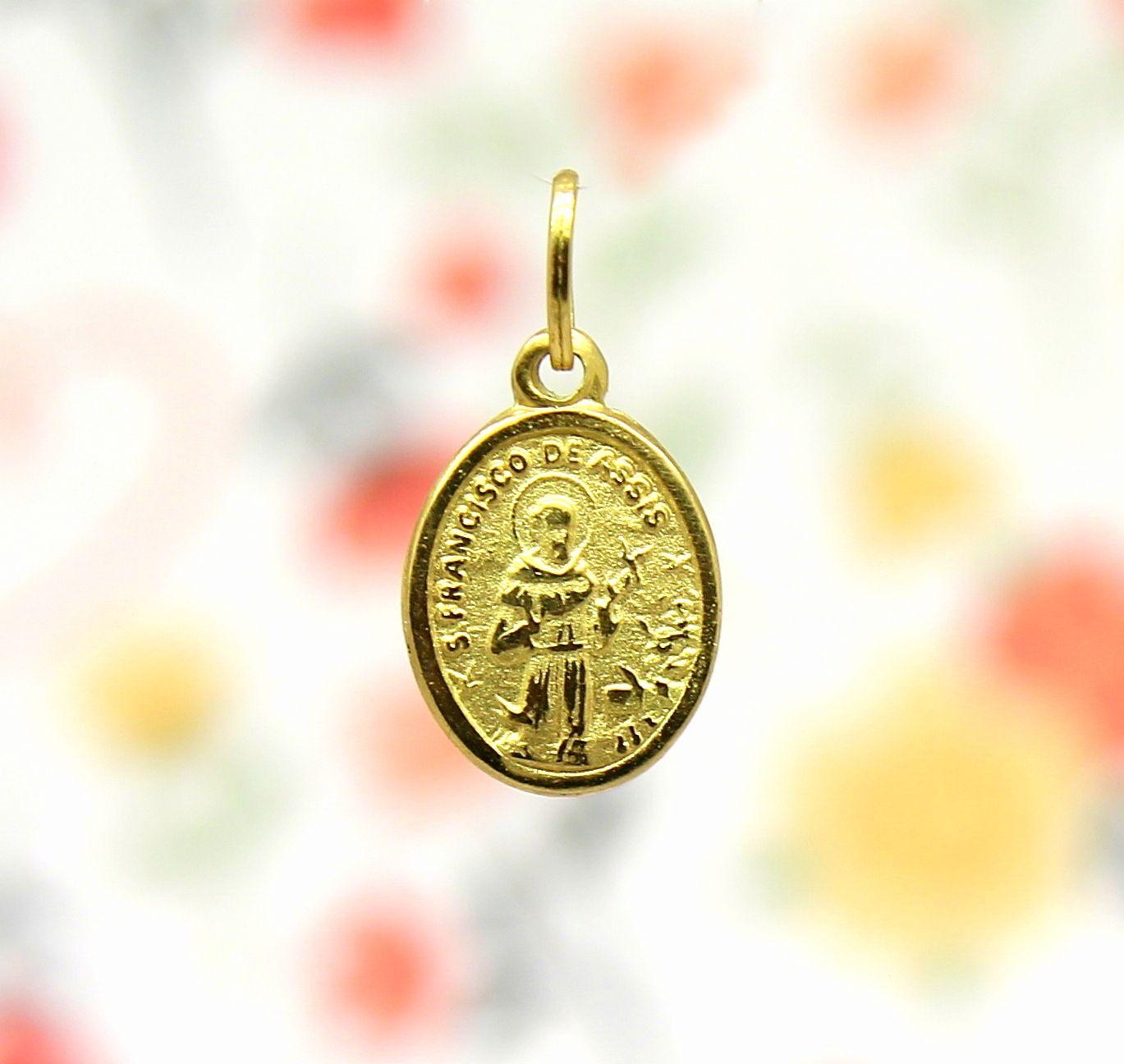 44628e5ab4489 Pingente São Francisco de Assis Mini Ouro 18k 750 - Marcio Joalheiros   Marcio  Joalheiros