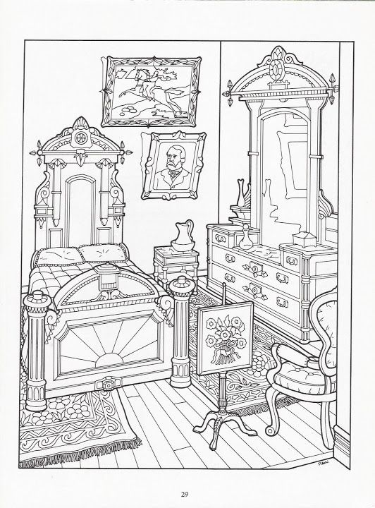 The Victorian House Coloring Book Coloring Pages Coloring Books Detailed Coloring Pages