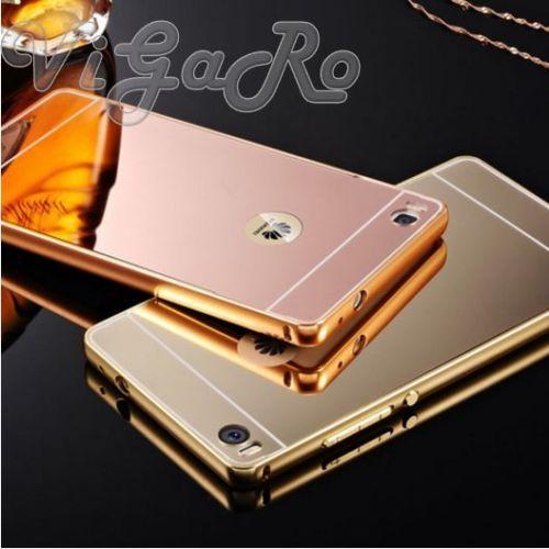 Cover A Specchio.Details Over Cover Custodia Bumper Alluminio Specchio Huawei