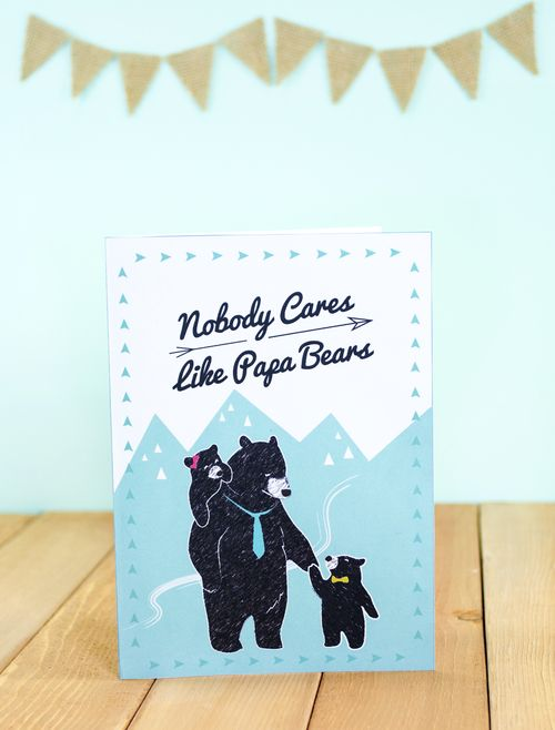Papa Bear Father S Day Free Printable Card Father S Day Diy Printable Cards Free Printable Cards