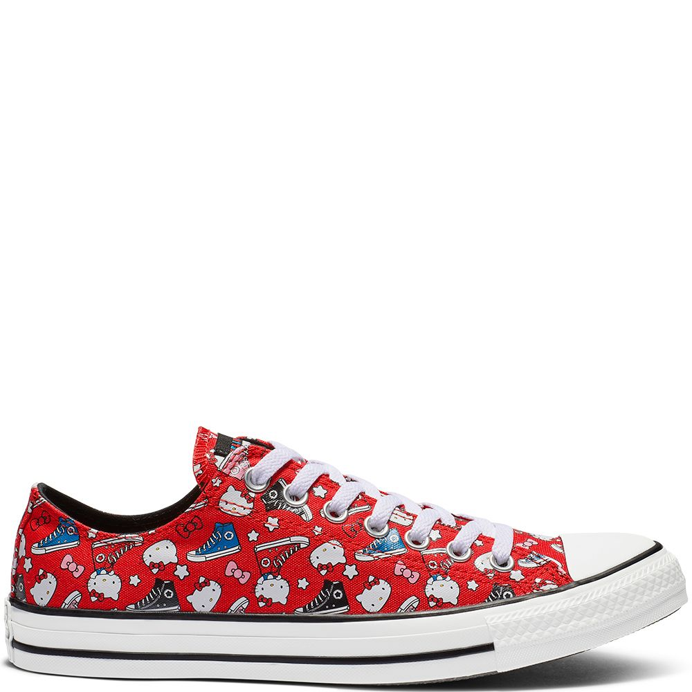 Converse x Hello Kitty Chuck Taylor All Star Low Top Fiery Red Black White  fiery red black white d2cb21e23