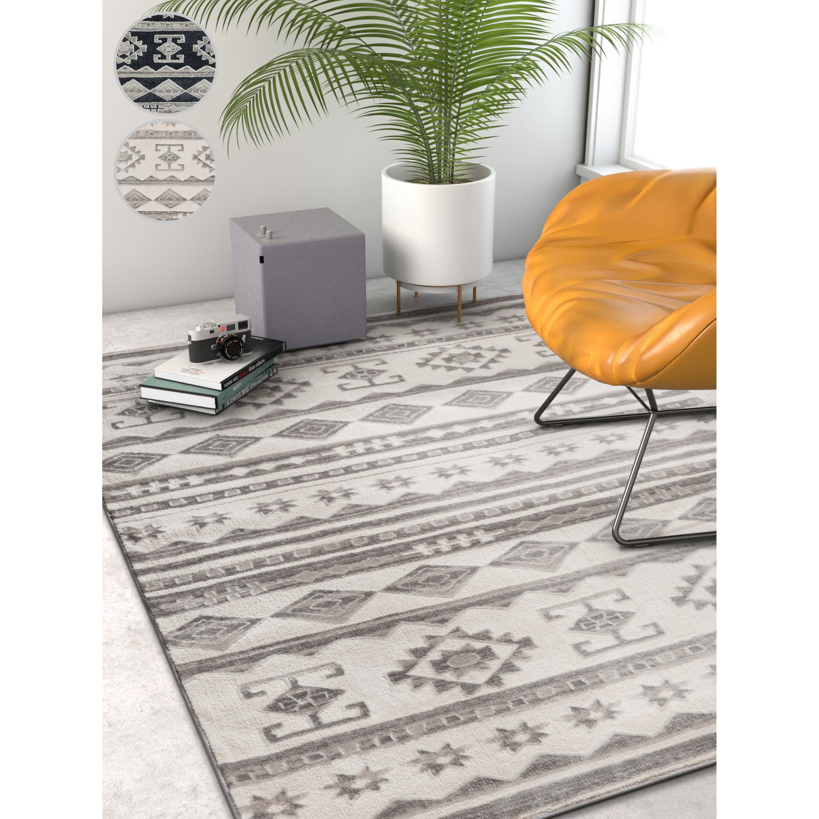 Well Woven Modern Tribal Stripe Area Rug 7 10 X 9 10 Dark Grey Gray In 2019 Modern Area Rugs Area Rugs Rugs