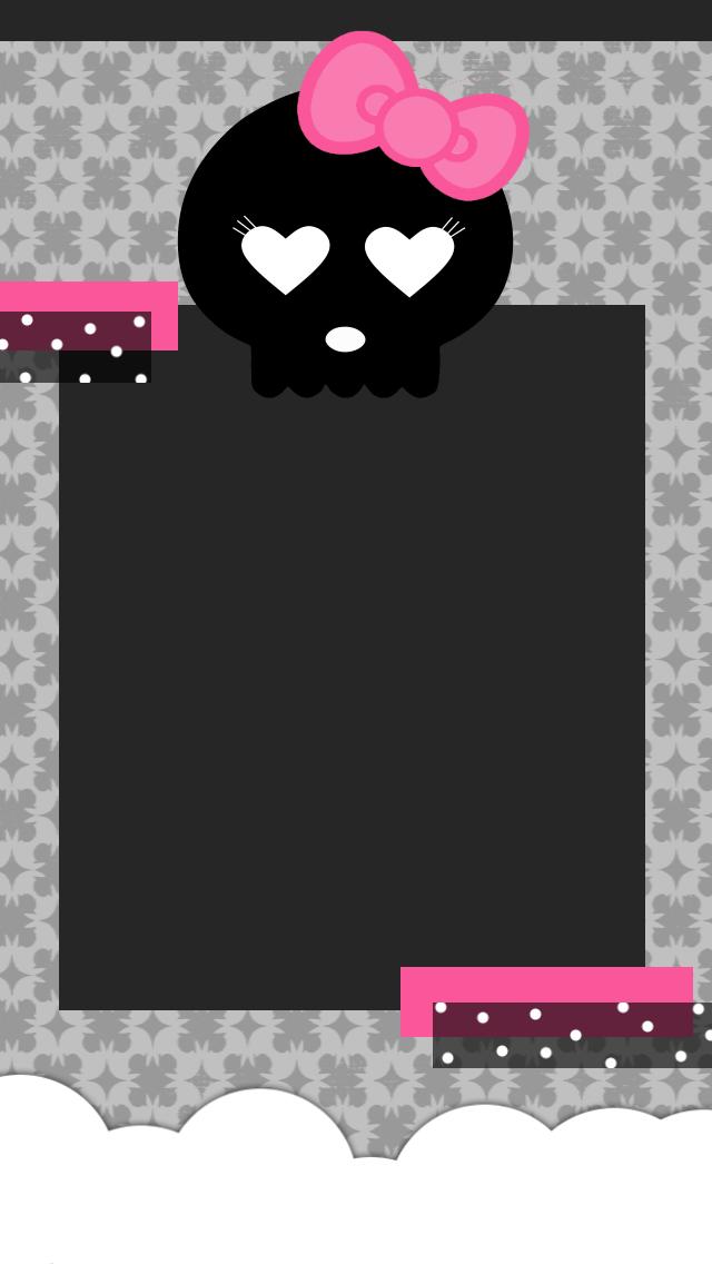 Girly skull, pink, halloween wallpaper   Favorite Things in