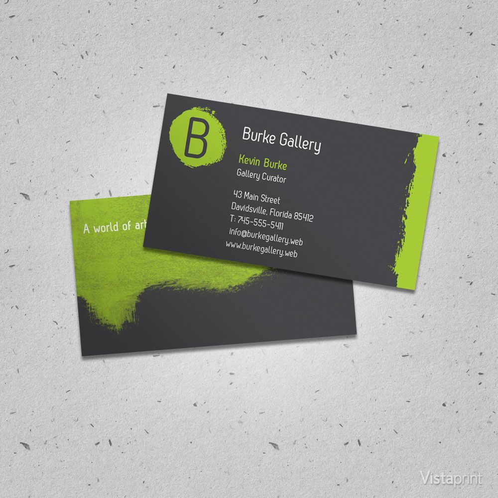 Green painter business card vistaprint things that im currently green painter business card vistaprint reheart Choice Image