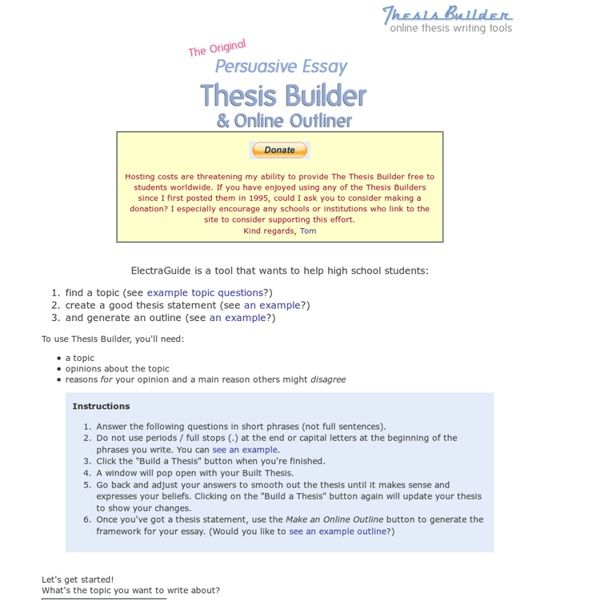 thesis statement generator for compare and contrast essay war on  Carpinteria Rural Friedrich
