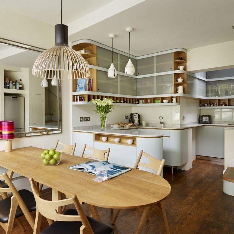 Tavolo di legno allungabile, arredare cucina soggiorno ...