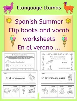 spanish summer flip books and vocabulary worksheets teaching vocabulary worksheets french. Black Bedroom Furniture Sets. Home Design Ideas