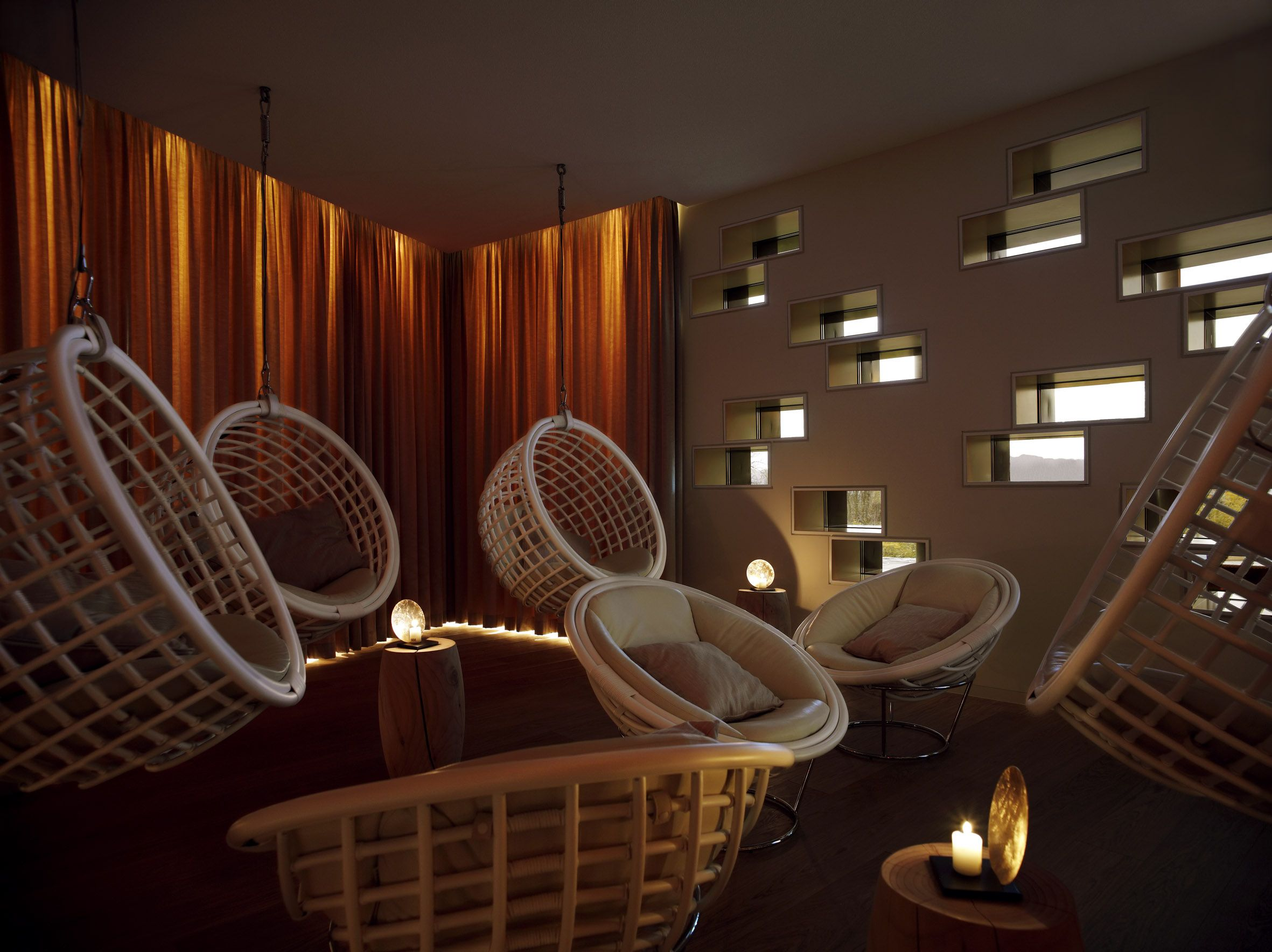 Spa chillout room at the dolder grand spa in zurich four for Chill bedroom ideas