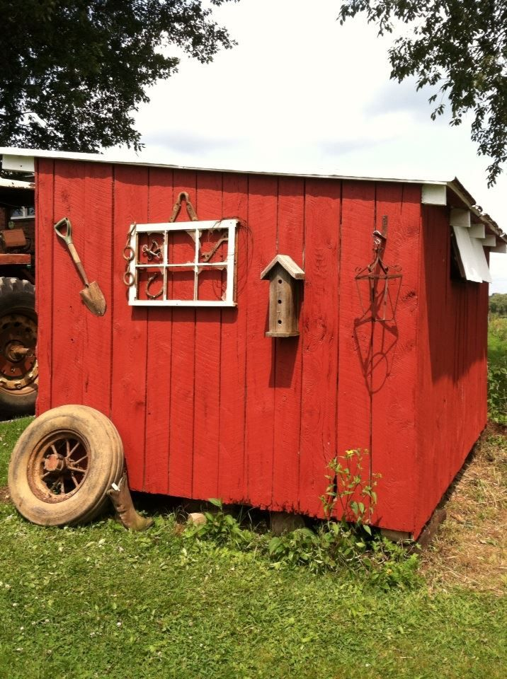 A small barn, utility shed mad in the 70's, now restored and decorated