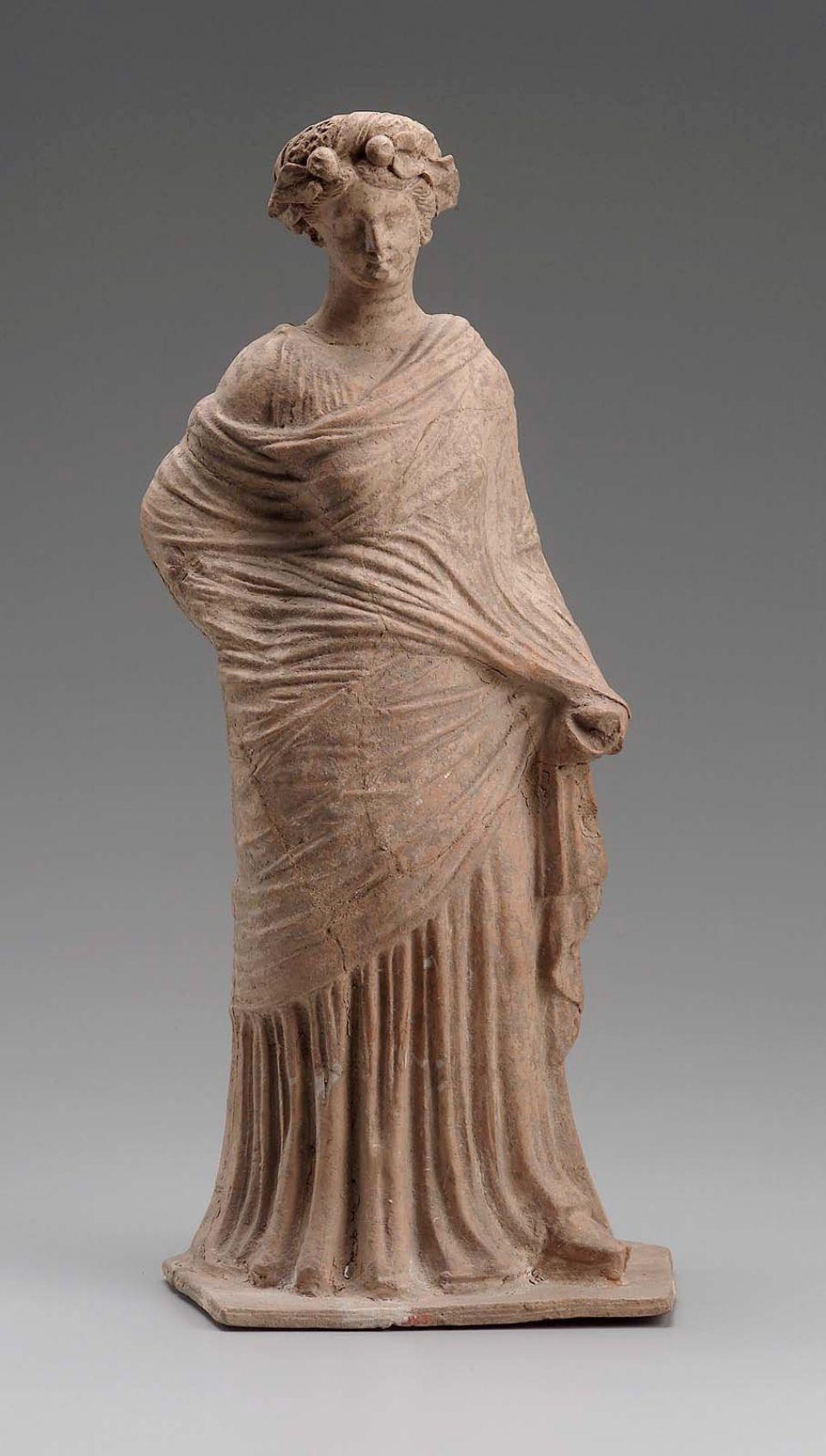Woman Wearing an Elaborate Headdress Greek, East Greek