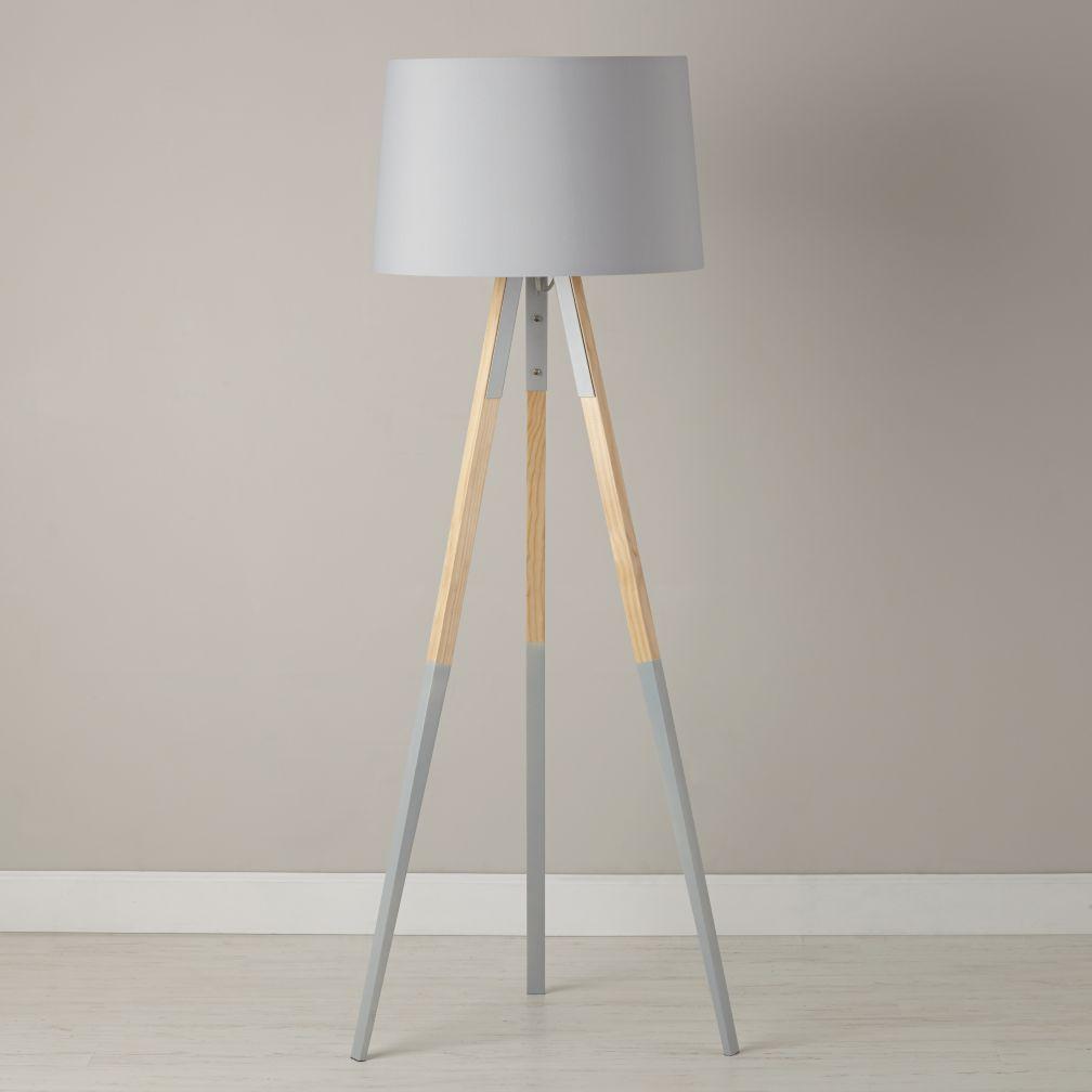 Shop Tripod Floor Lamp With Grey Dipped Legs The Cinema Floor
