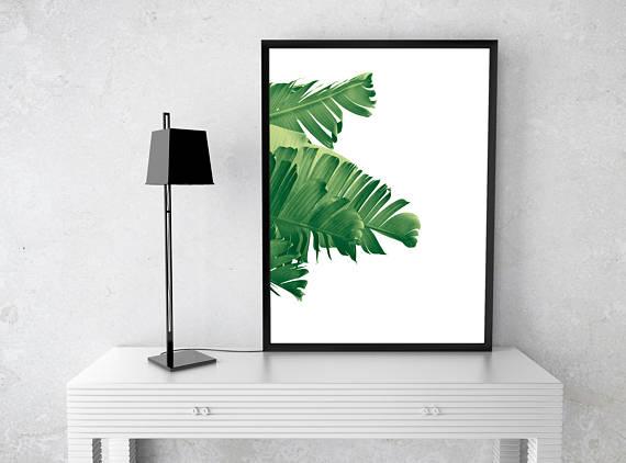 Banana Leaf Printable Art Prints Palm Wall