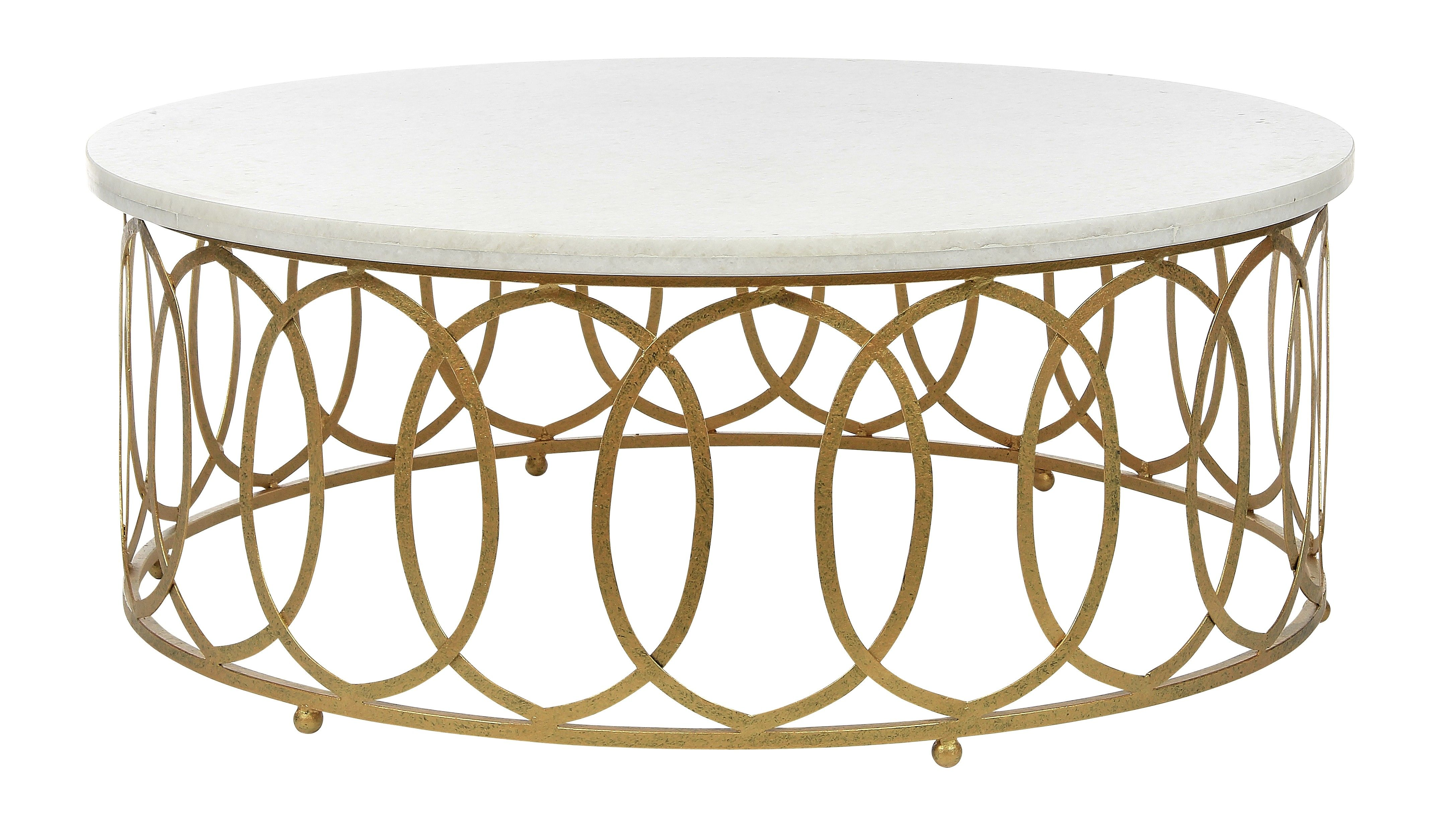 New Orleans Round Coffee Table 48 Br Shown In Gilded Gold