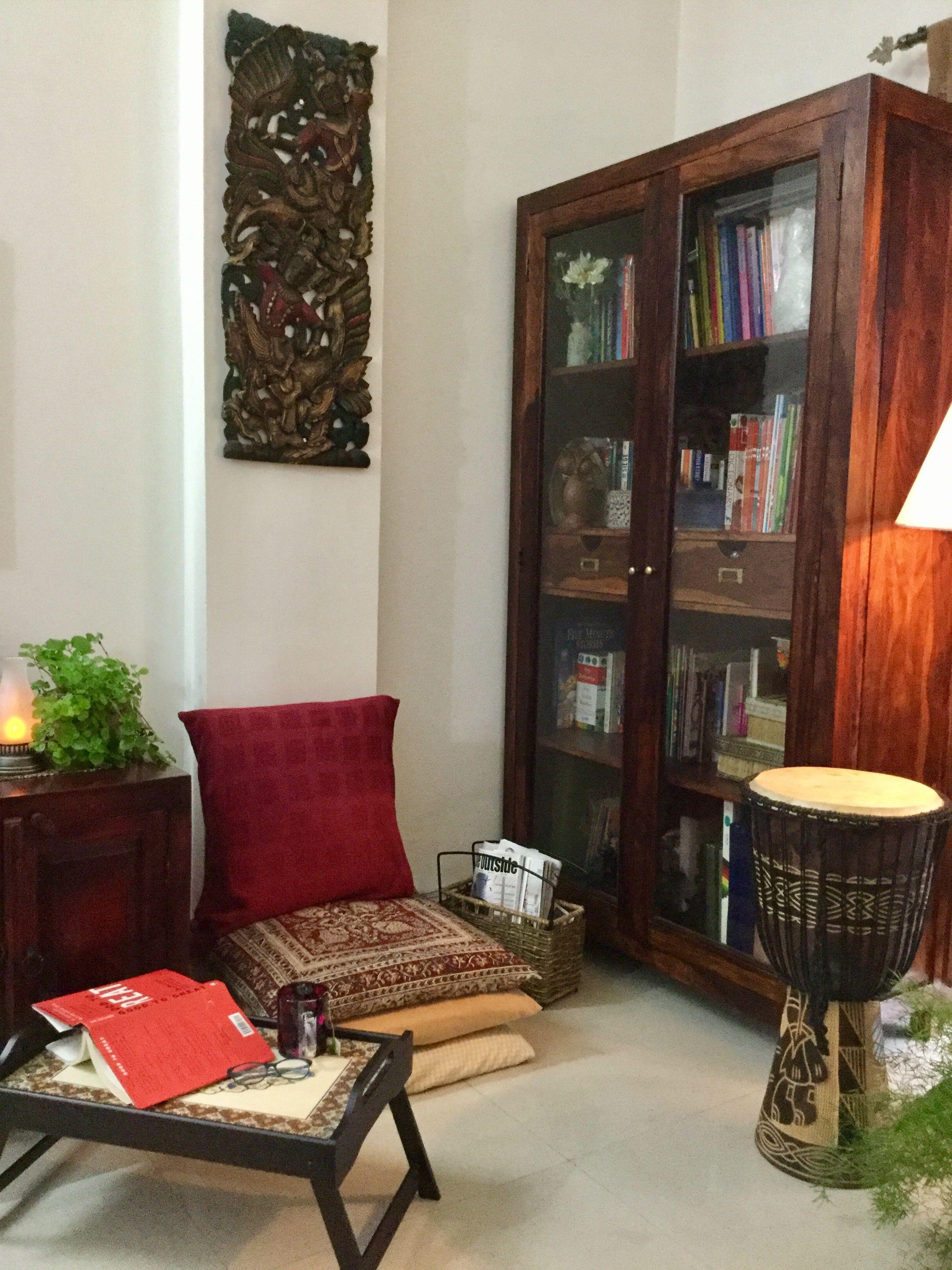 Reading corner #IndianHomeDecor   Indian home decor, Nook ...