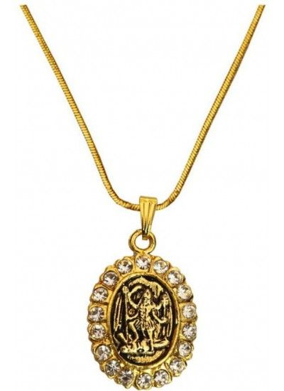 Elegant gold gold plated stone studded kaali mata pendant goddess buy designer fashionable durga maa kaali maa pendants we have a wide range of traditional modern and handmade without chain pendants online mozeypictures Image collections