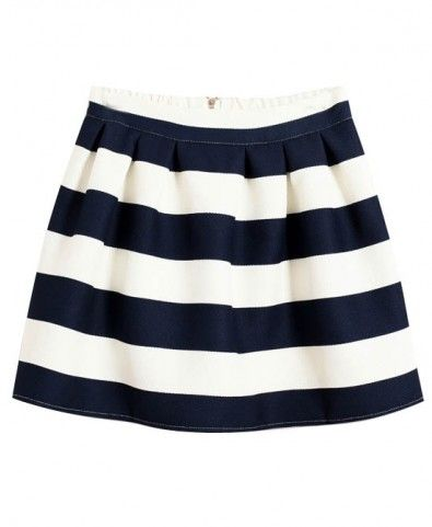 Coarse Cross Stripes High Waist Slim Fit Bubble Skirt
