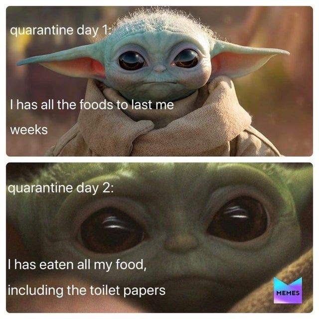 Not Mine But Relevant Babyyoda In 2020 Funny Star Wars Memes Yoda Meme Funny Relatable Memes