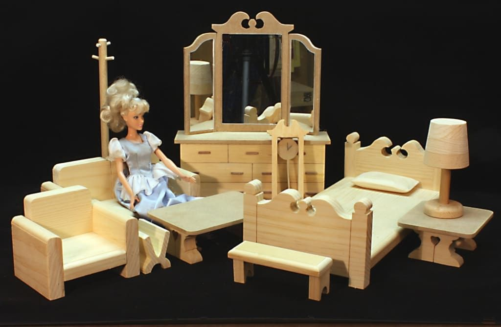 Two Room Barbie House & Furniture Woodworking Plan