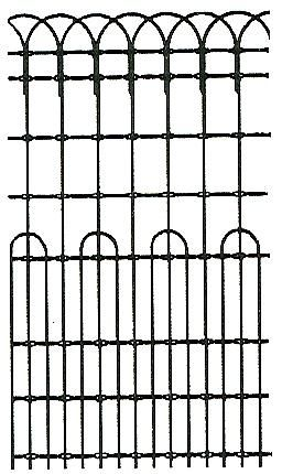 Ornamental woven wire fence surrounded the front yard and ...