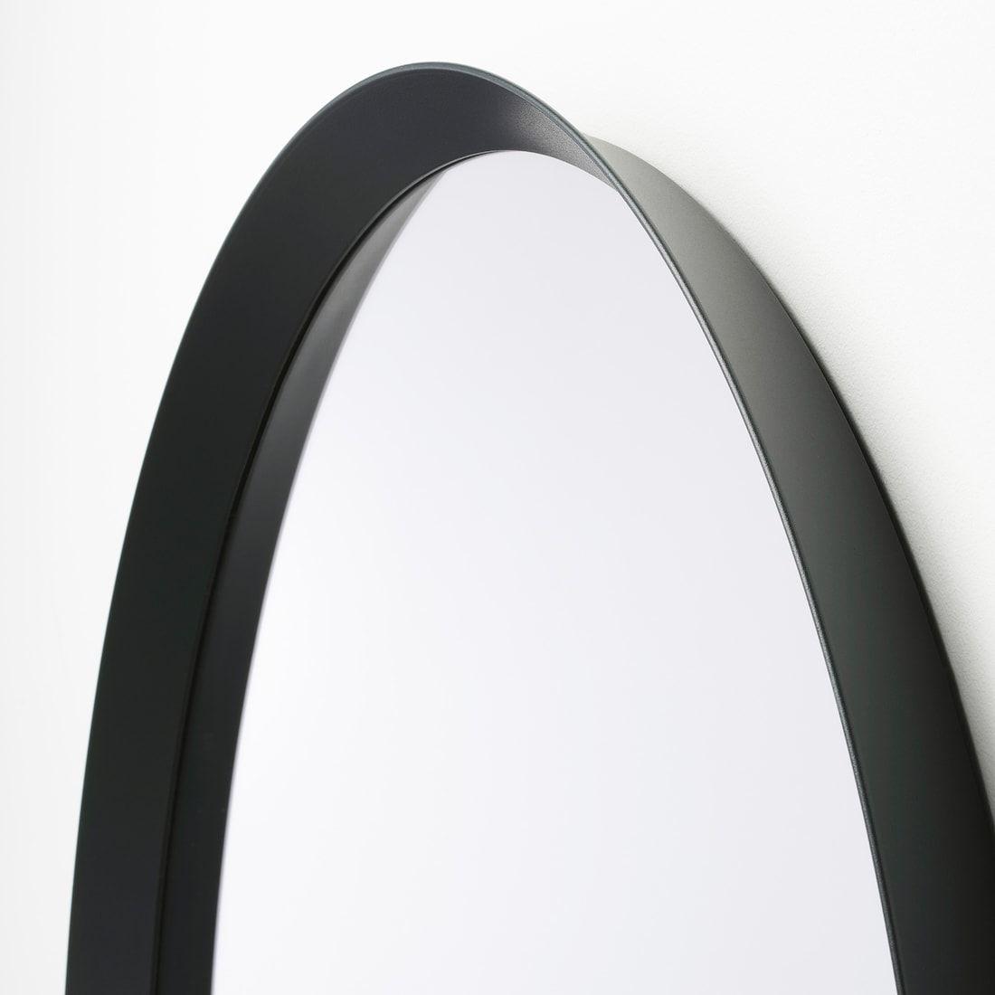 Langesund Mirror Dark Gray Ikea Mirror Black Round Mirror Kitchen Mirror