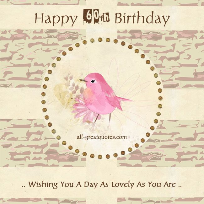 Free 60th birthday cards Happy 60th Birthday – Birthday Cards 60th