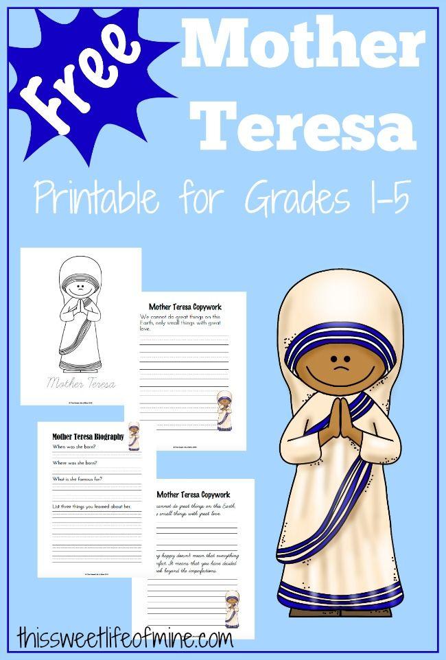 Mother Teresa Printable and Activities | Mother teresa, Activities ...