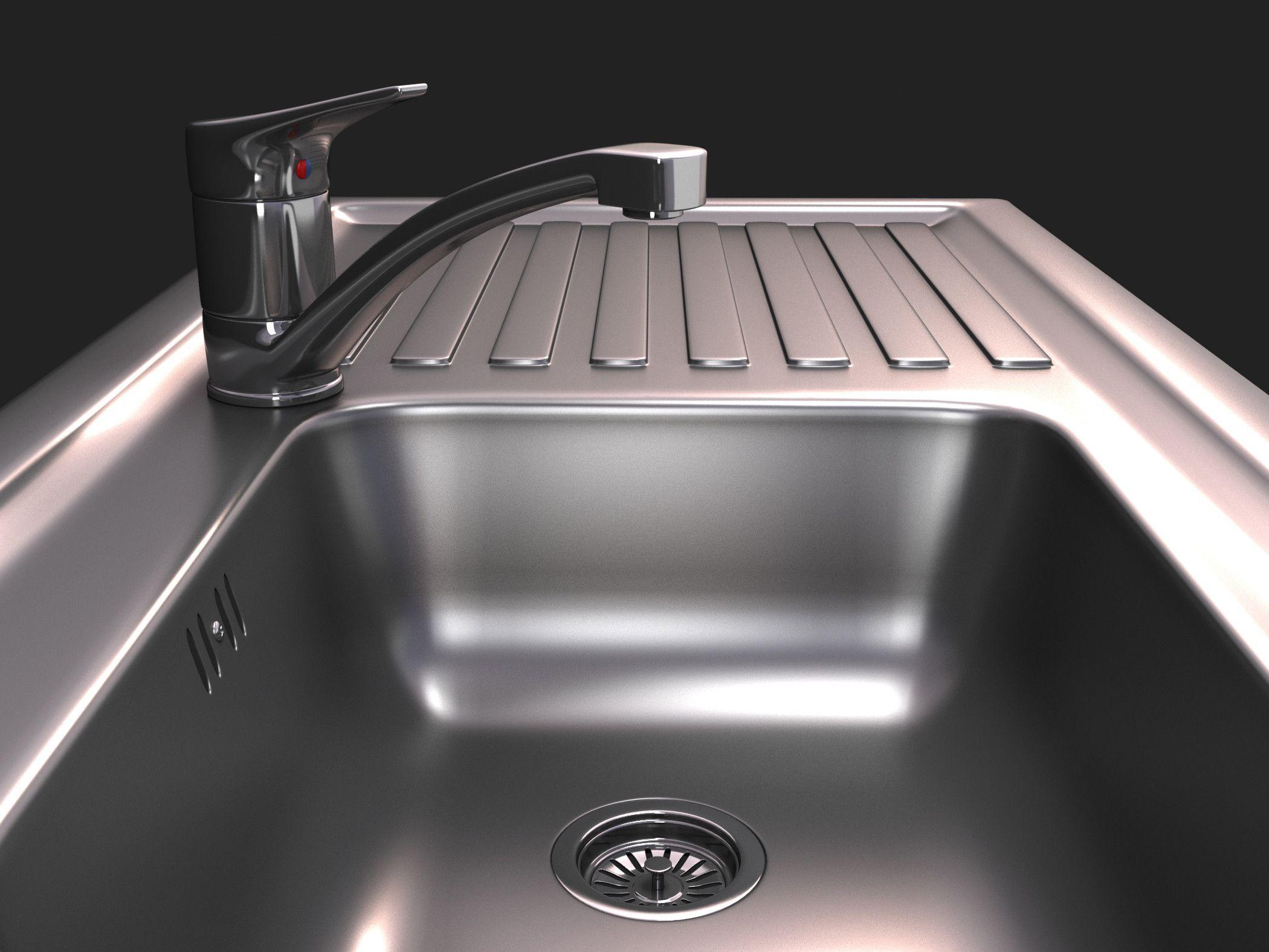 Sink Tap Modell : Kitchen sink tap max d model modeling