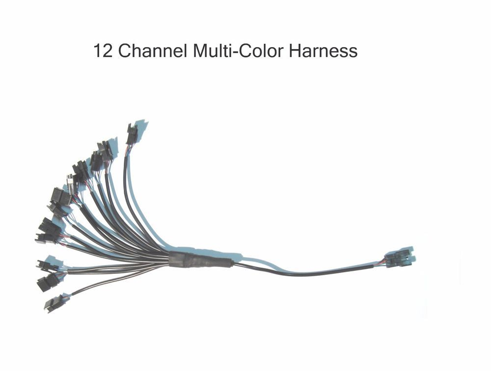 12 Channel LED Multi-Color Accent Light Harness RGB / Strip / Pod  Splitter #Shadz_LED