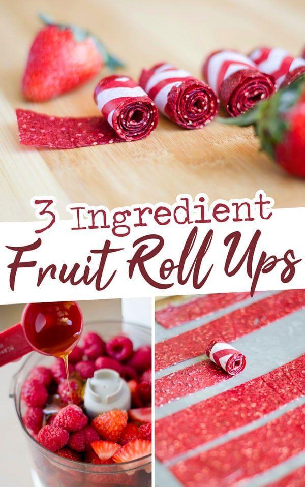 3 Ingredient Fruit Roll-Ups – Carey&CleanEatingS