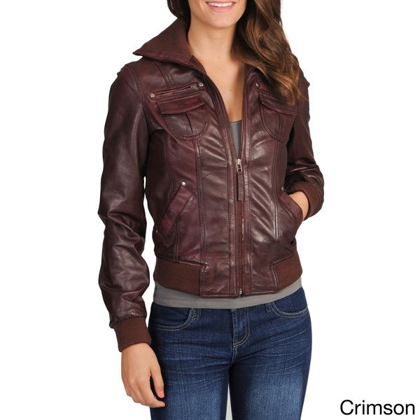 Whet blu Women's Leather Bomber Jacket | Squirrel Girl Aviator ...