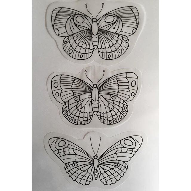 Traditional Butterfly Tattoo Flash: Traditional Butterfly Tattoo On Pinterest