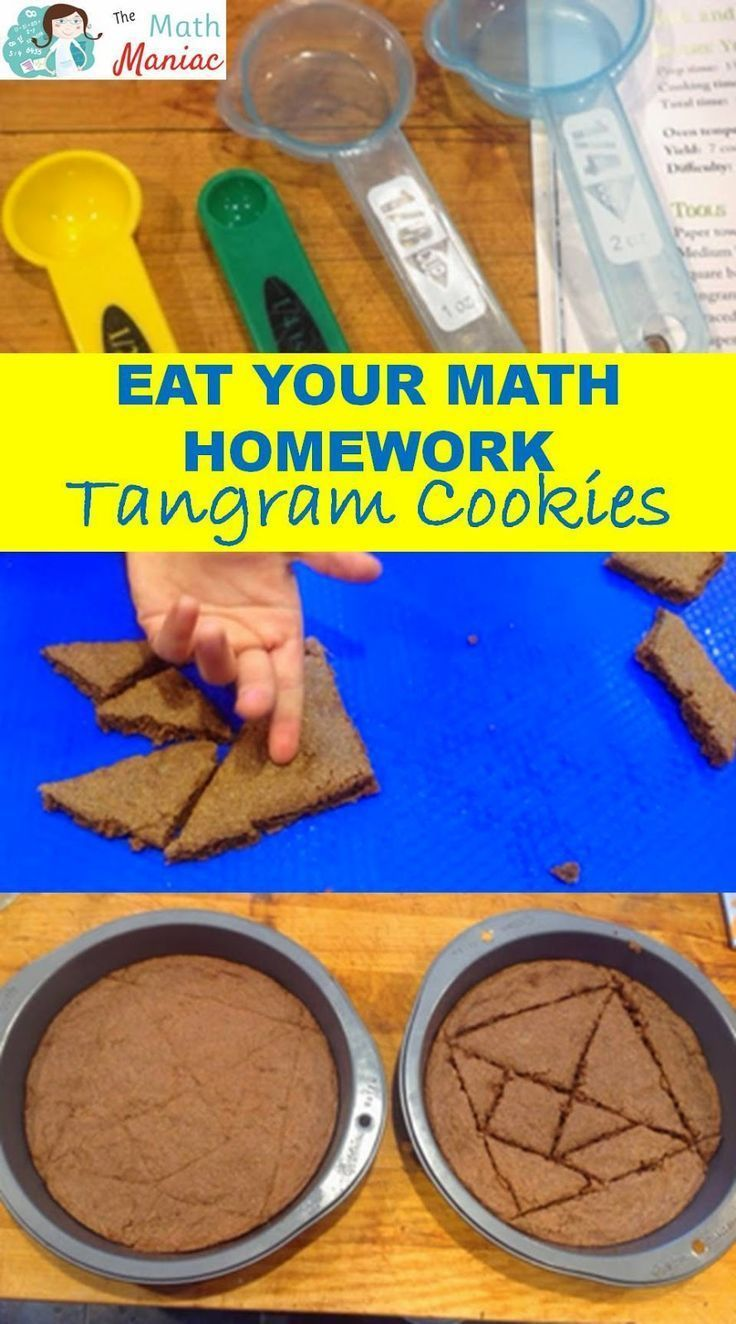A fun way to get kids interested in math!  Check out this lesson from the book Eat Your Math Homework!  A fun lesson that combined shapes, angles, fractions & more.