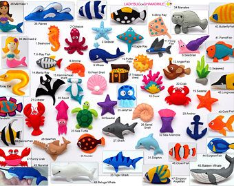 Personalized Sea And Ocean Creatures Felt Magnets Or Ornaments Price Per 1 Item Make
