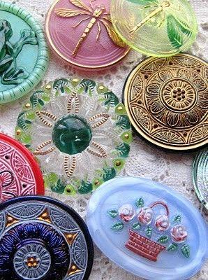 Vintage czech glass buttons