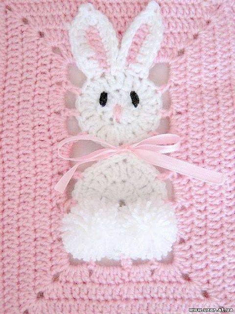 Patrón #751: Manta Conejito a Crochet | CTejidas [Crochet y Dos ...
