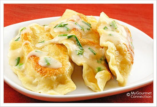 potato and cheese pierogi: traditional polish pierogi, filled with a classic mixture of potato and cheese are a delicious side dish, well worth the time and effort involved.