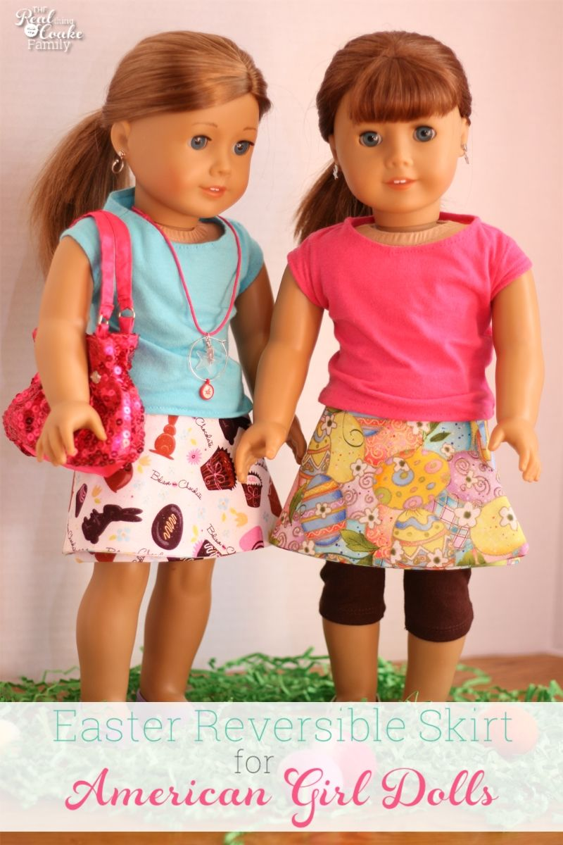Free Doll Clothes Pattern to make a reversible wrap skirt
