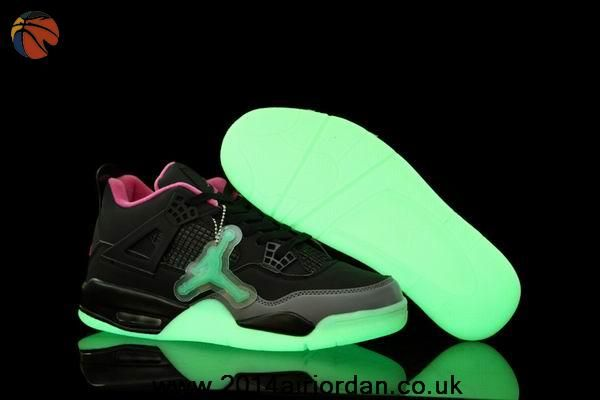 56a25832db7cfc Black Pink Cement Grey Glow In The Dark Air Jordans 4