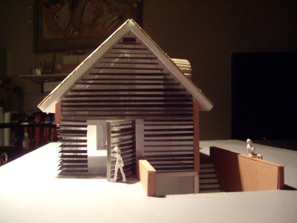 ontwerp maquette voor woonhuis in het buitengebied van Oirschot